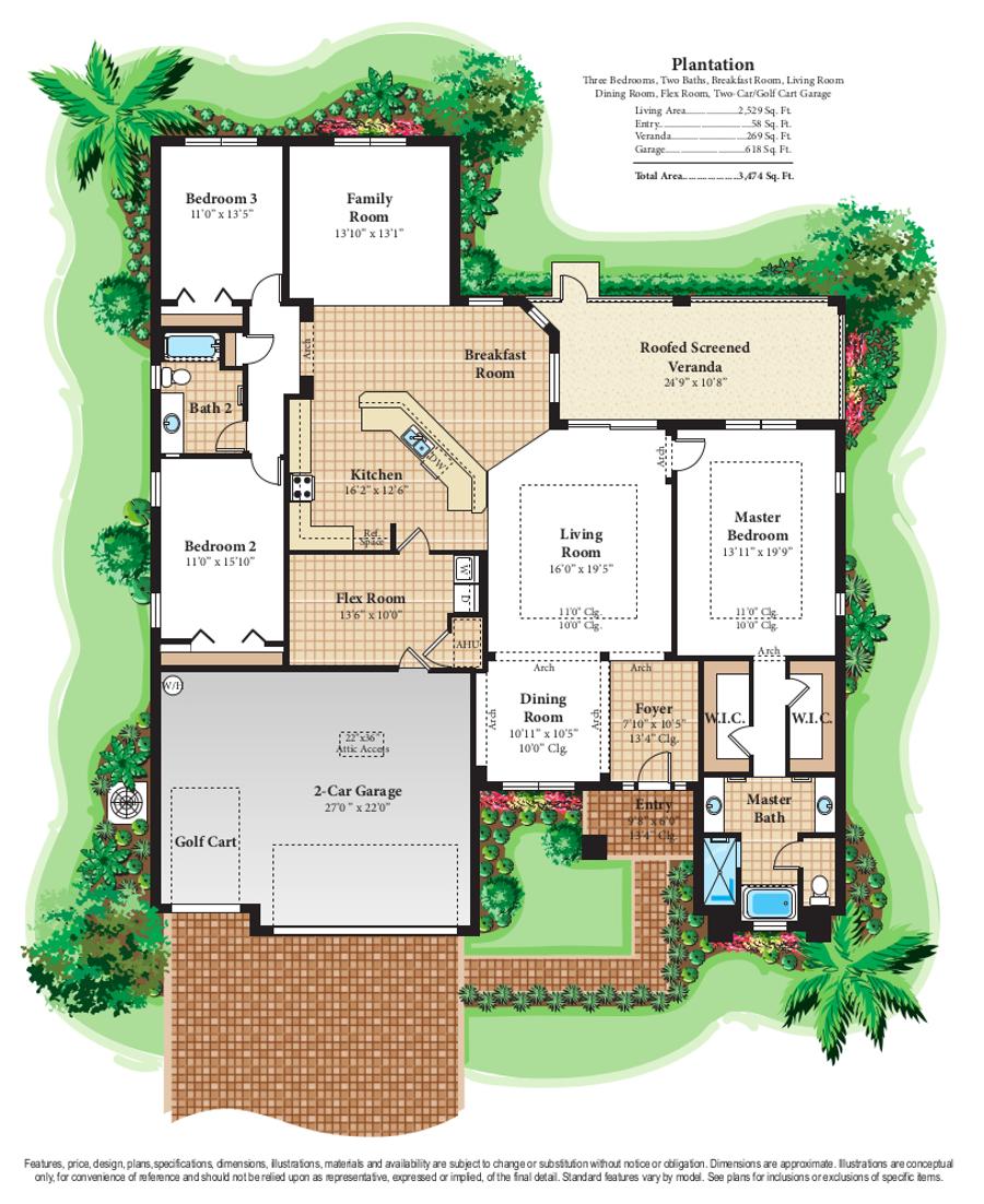 Florida Retirement Community Home Models Plantation