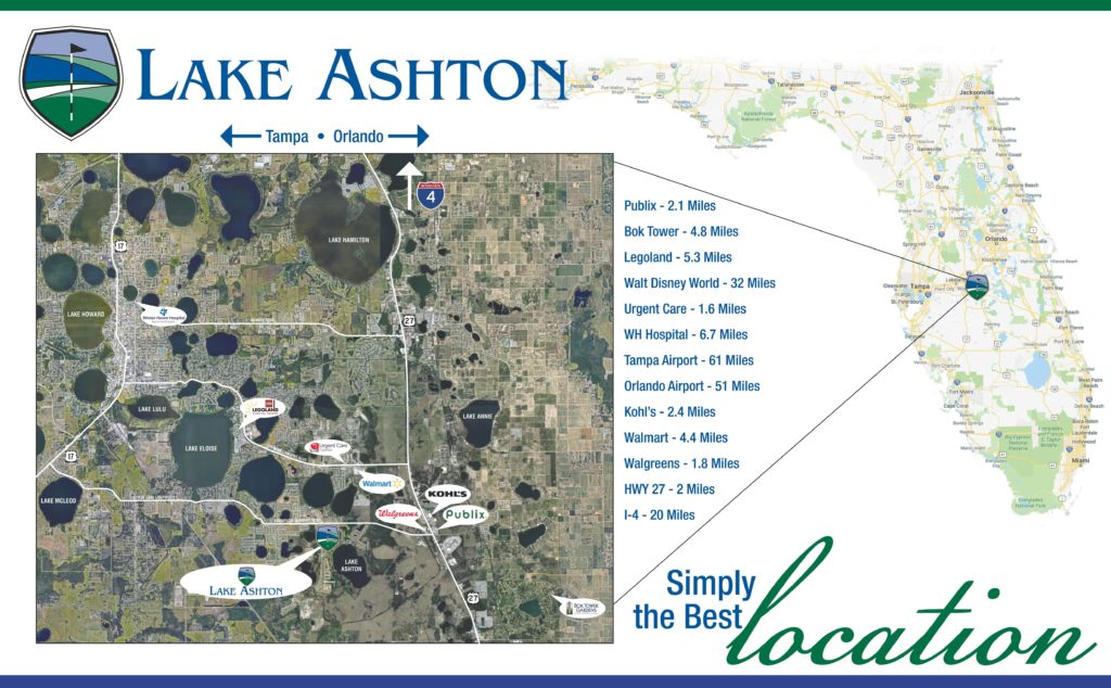Lake Ashton Location Map