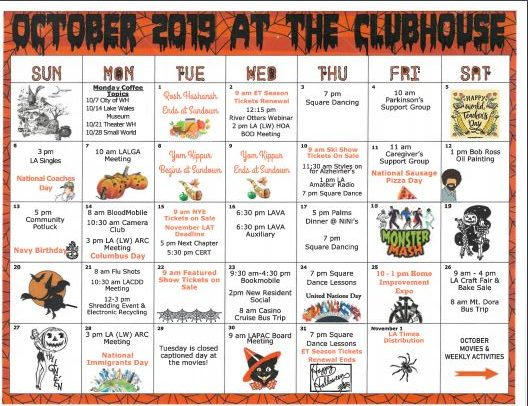 Lake Ashton Clubhouse Activity October 2019