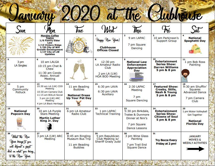 Florida Retirement Community Events 2020