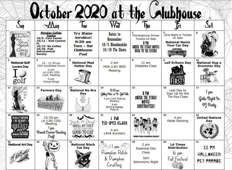 Lake Ashton October Events